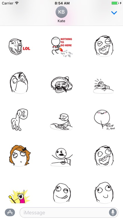 Meme - poker faces stickers pack