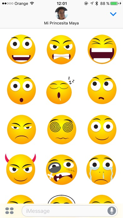 Special Emoji Stickers Screenshot on iOS