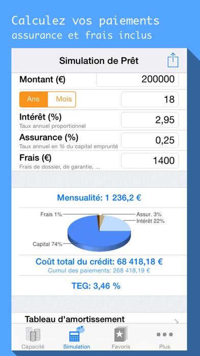download Simule mon Prêt, calcul de crédit immo, auto conso apps 1