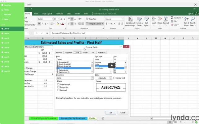 Learn To Use - Microsoft Excel 2016 Edition