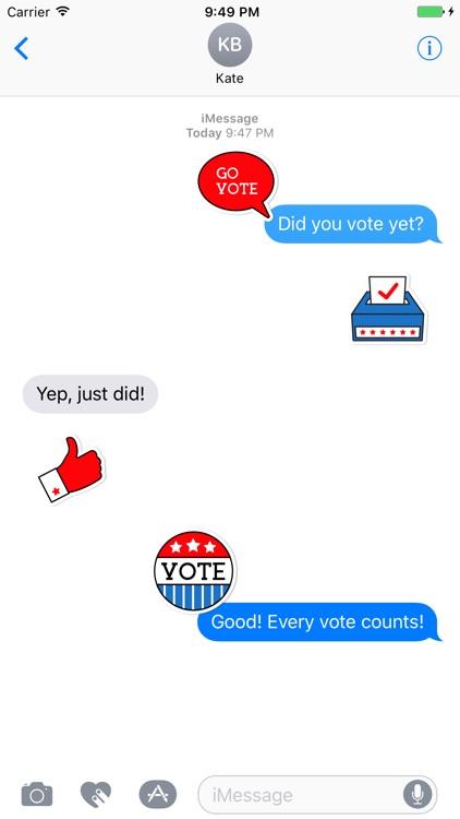 Go Vote Stickers screenshot-3