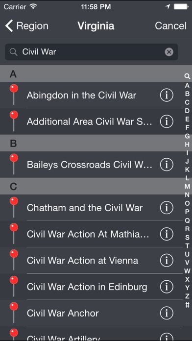 Screenshot for Historical Markers in United States App Store