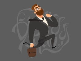 Funny Businessman Stickers
