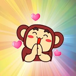 Funny gorilla animated emojis - Fx Sticker