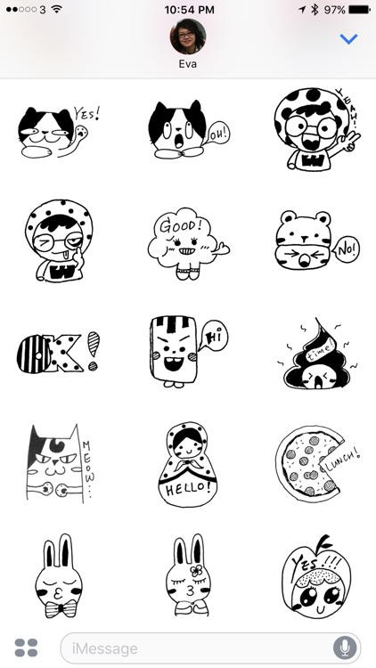Doodle Funny Stickers
