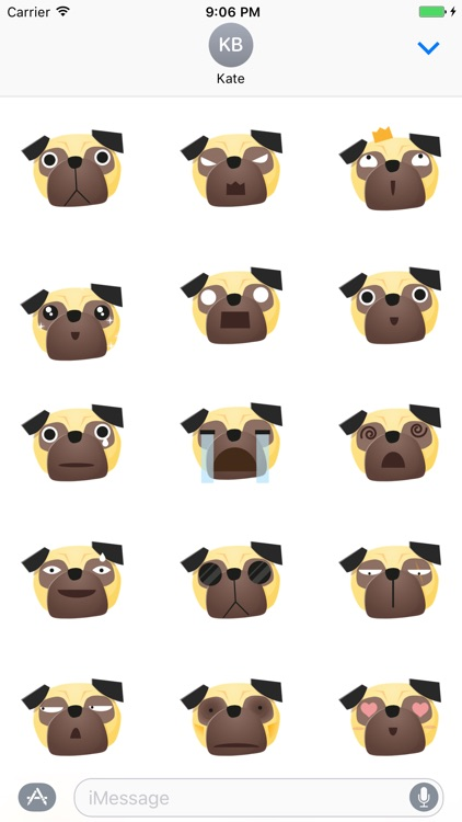 Sticker Me: Pug Faces