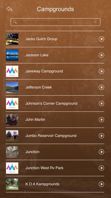 Colorado Camping Locations screenshot three