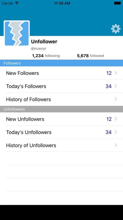Unfollower - for Twitter