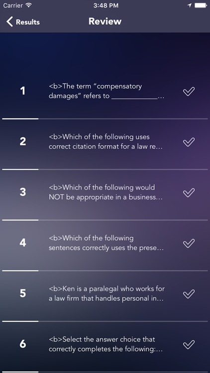 Certified Paralegal Exam/Test Practice screenshot-4