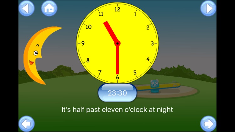 Tell the Time - Baby Learning English Flash Cards screenshot-4