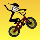 Stickman BMX Free - hill-top bike racing game-s icon