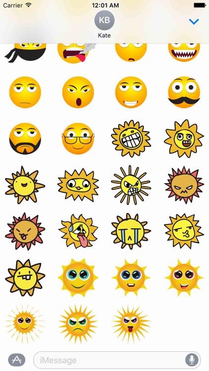 Funny Smileys Sticker Pack! screenshot-4