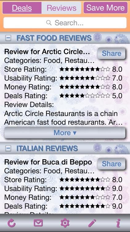 Restaurant Deals & Restaurant Store Reviews