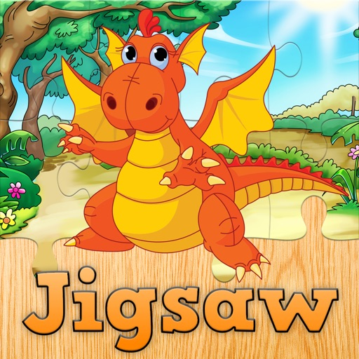 Cartoon Dragon Jigsaw Puzzles for Kids – Kindergarten Learning Games Free iOS App