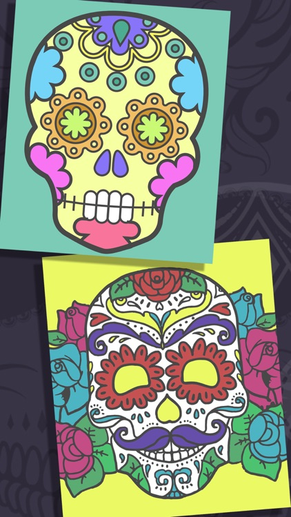 Sugar Mexican skull - Coloring book for adults