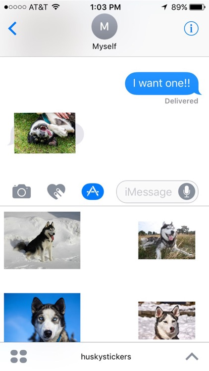 Husky Stickers for iMessage screenshot-4