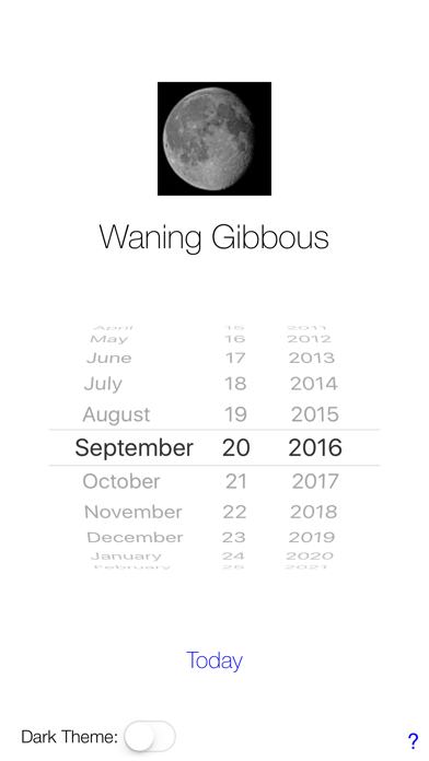 Lunar Phase Calendar screenshot one