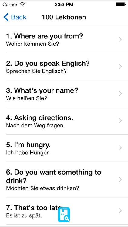 English Study for German - Englisch Lernen screenshot-3