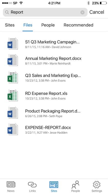 Microsoft SharePoint screenshot-4