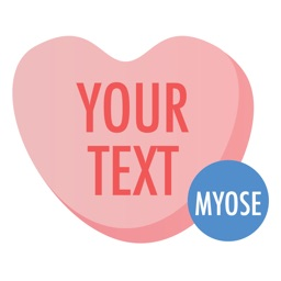 Candy Hearts - MYOSE - Make Your Own Sticker Emoji