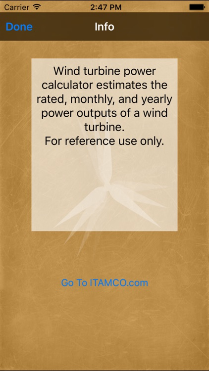 Wind Turbine Power Calc