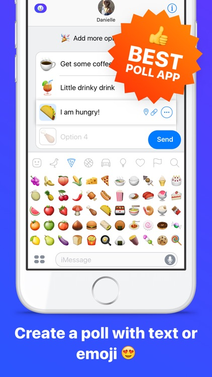 Emoji Poll - Send surveys to friends with iMessage