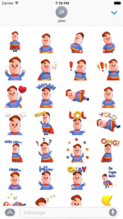 Super! Hero Emoji Stickers for iMessage