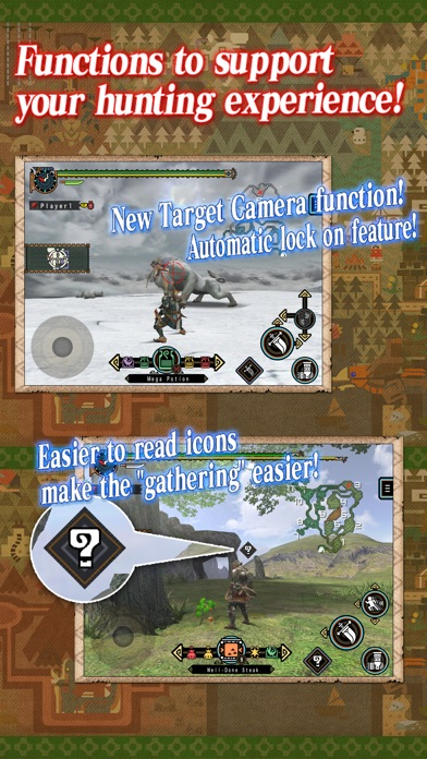 MONSTER HUNTER FREEDOM UNITE for iOS Screenshot