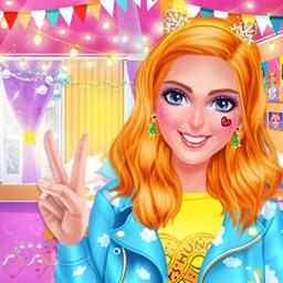 Pop It Girl™ - High School Winter Party Salon