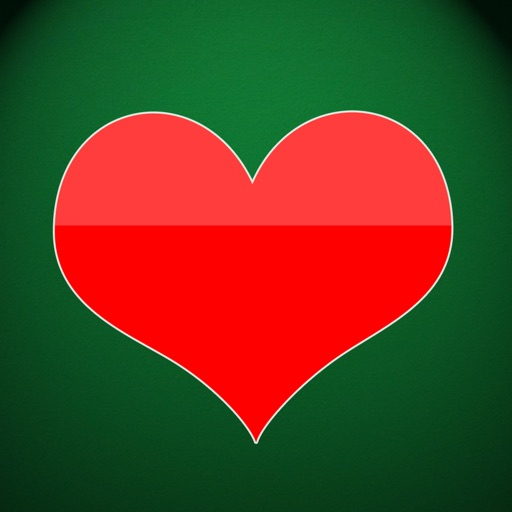 Hearts for cards, solitaire, games, leisure games