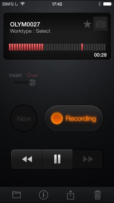 OLYMPUS Dictation for iPhoneScreenshot von 1
