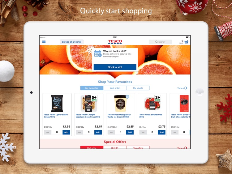 Tesco Fresh Groceries for iPad screenshot-0