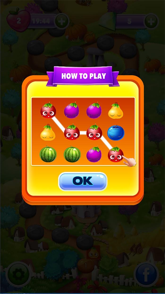 Fruits Garden - Match 3 Screenshot