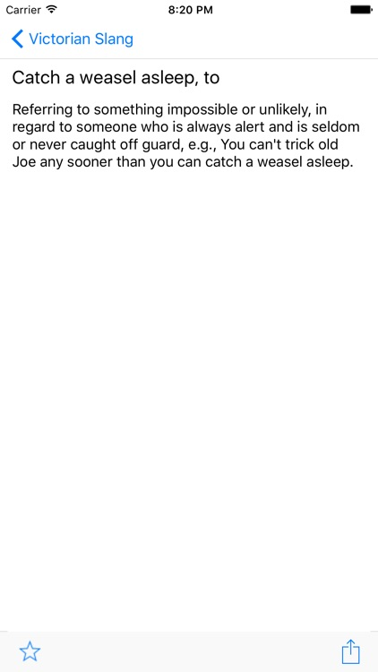 Victorian Slang for iPad