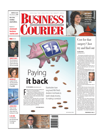 Screenshot of Cincinnati Business Courier