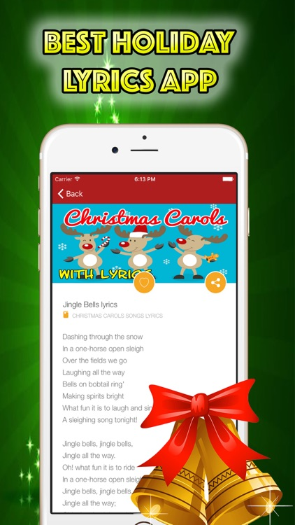 Christmas Songs Lyrics Playlist Carols for Holiday screenshot-4