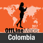 Colombia Offline Map and Travel Trip Guide