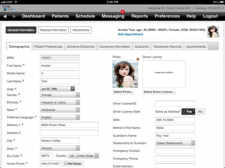 OneTouch EMR screenshot-4