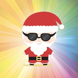 Super cute Santa Claus for Christmas - Fx Sticker