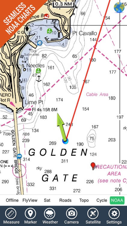 Marine & Lake : California Fishing chart Navigator