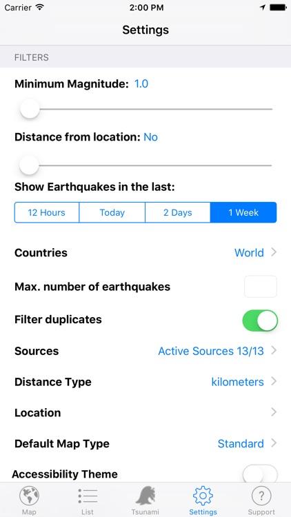 Quake Spotter - Map, List, Widget and Alerts screenshot-3