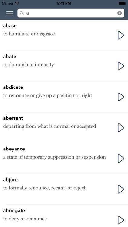 Exam Vocabulary Builder with AccelaStudy® screenshot-4