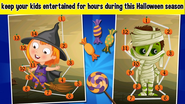 Halloween Connect the Dots - Halloween Games For Toddlers & Kids screenshot-3