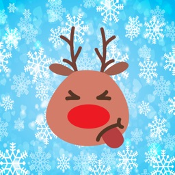 Funny reindeer for Christmas emojis - Fx Sticker
