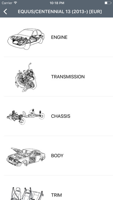 Hyundai Car Parts - ETK Parts Diagrams Screenshot