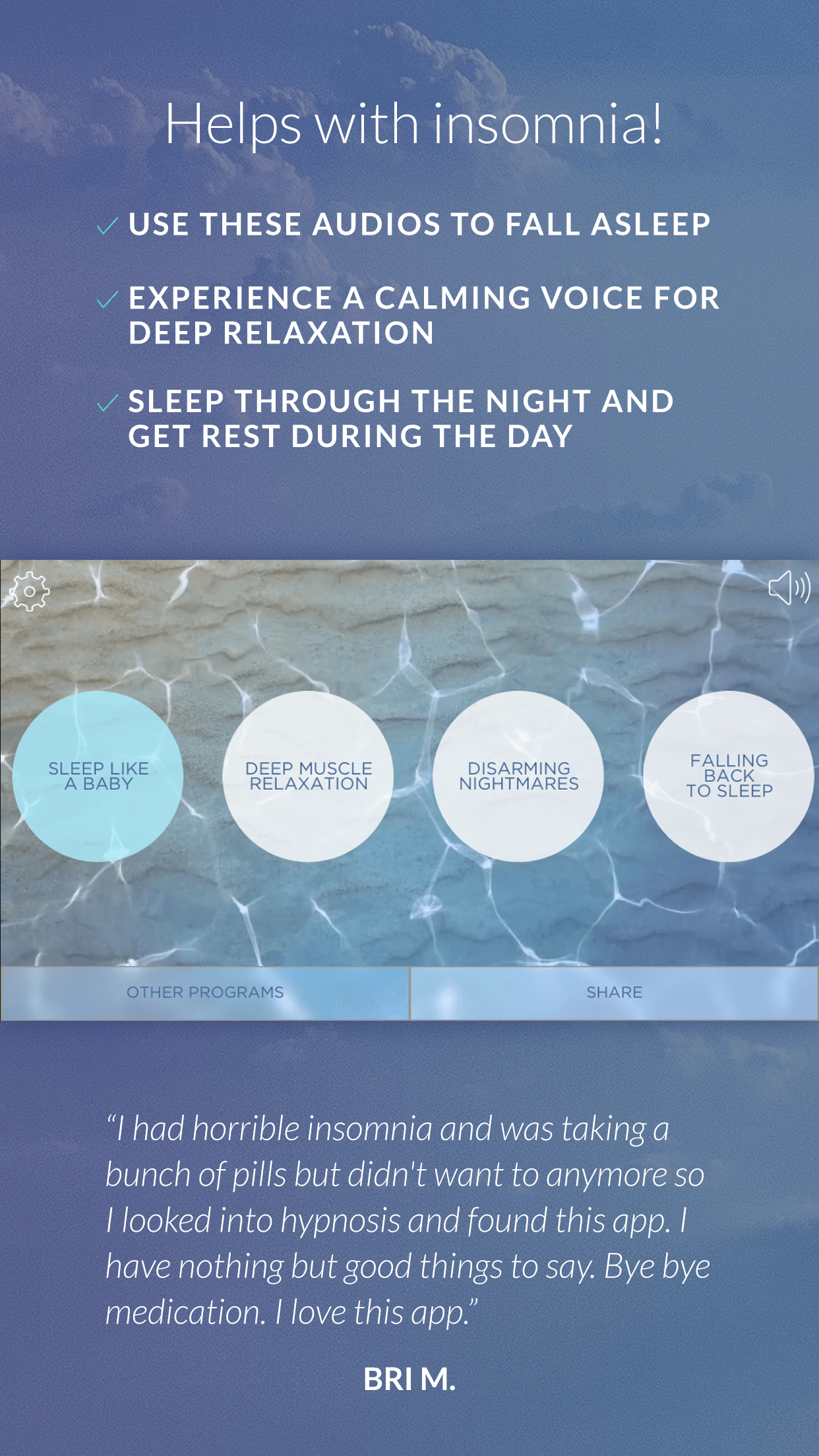 Deep Sleep and Relaxation Hypnosis- Cure Insomnia Screenshot