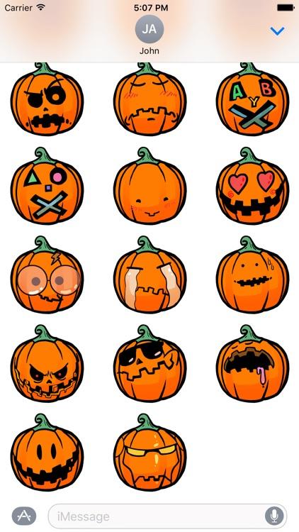 Funny Halloween Pumpkin Sticker screenshot-4