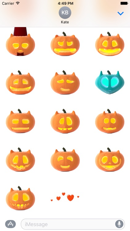 Cat O'Lanterns - Halloween Cat Pumpkins stickers screenshot-2