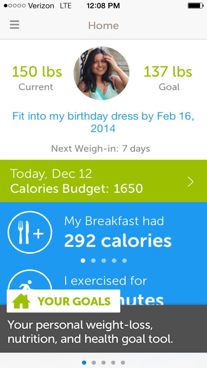 Calorie Counter,Dining Out,Food,Exercise Screenshot