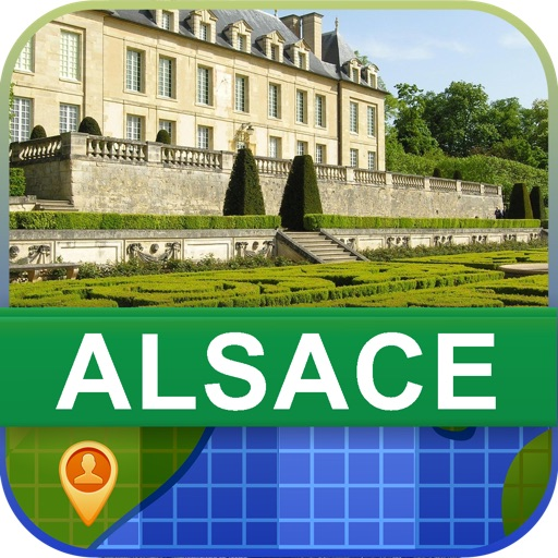 Offline Alsace, France Map - World Offline Maps